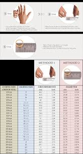 Ring Size Chart Ring Size Chart For Ring Orders Boutique Ottoman Online