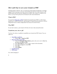 Formidable Most Common Resume File Format With Word Vs Pdf Resume