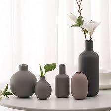 <b>Nordic Ceramic Vase Gray</b> Mini Small Vases Porcelain Flowerpot ...