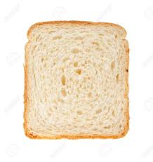 White Bread Slice Isolated On White Background Stock Photo Picture