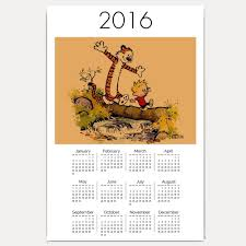 calvin and hobbes the duo comic 2016 18x12 inch calendar in office s