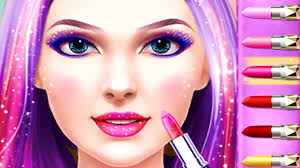 fun care game celebrity hair style spa salon play fun dress up makeup makeover games
