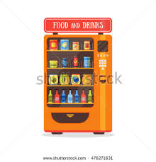 Soda And Snack Vending Machines For Sale Adorable Vending Machine Food Drink Soda Snacks Stock Vector Royalty Free