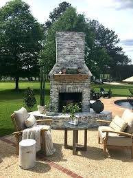 outdoor brick fireplace whitewashed chairs are from and main diy red