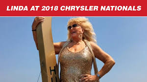 Linda Vaughn Rides Again at the 2018 Chrysler Nationals - YouTube