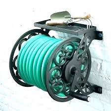 garden hose reel water holder liberty hideaway foot metal hos garden hose reel