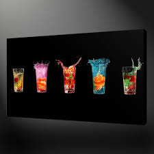 colourful drinks kitchen art canvas print wall design ready to hang ebay on kitchen wall art canvas uk with colourful drinks kitchen art canvas print wall design ready to hang
