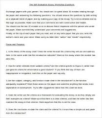 writing an evaluation essay example sample self  writing an evaluation essay example 14 sample self