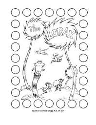 The Lorax Dot Reinforcer Free Download On Tpt February Speech