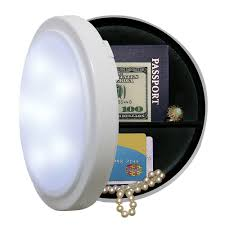 wireless closet light with concealed safe