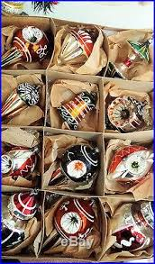 12 Antique German Glass Christmas Ornaments Apple Core, Ice Cream ...