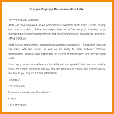 Letters Of Recommendation For Jobs Template Job Reference Letter For A Friend Template Of Recommendation
