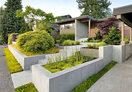 awesome modern front garden design ideas within home design furniture decorating