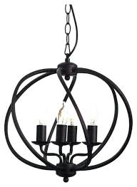 orb light chandelier small 4 antique brown 5