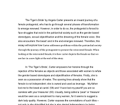 the tigers bride by angela carter presents an inward journey of a  document image preview