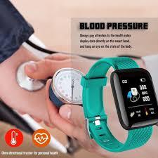 116 PLUS <b>Smart Bracelet Color</b> Screen D13 Heart Rate Blood ...