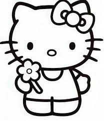 Small Picture hello kitty pictures to color Free Printable Hello Kitty