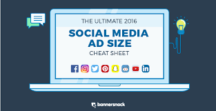 facebook icon size infographic social media ad size 2016