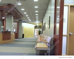 office hallway. Hallway In Medical Office Waiting Area Royalty-Free Stock Photo