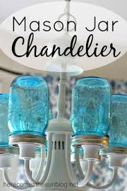 cottage mason jar chandelier. turn your existing light fixture into this amazing mason jar chandelier in just a few easy cottage u