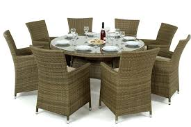 8 seater round dining table uk rattan la 8 seat round dining set garden furniture inc