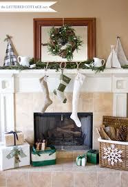Christmas Mantel Decorating Ideas Lettered Cottage 3