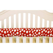 cotton tale designs lizzie red dot cotton front crib rail cover