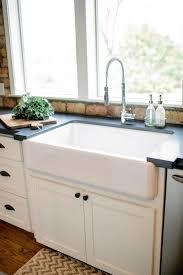 Small Double Kitchen Sink New Bowl Fireclay Farmhouse Dark Gray