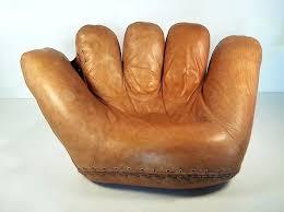 baseball glove chair for s baseball glove chair signed in by pas and for baseball glove baseball glove chair
