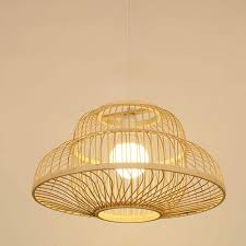 Japanese Lantern Pendant Light Amazon Com Straw Hat Ceiling Lantern Craft Bamboo Wicker