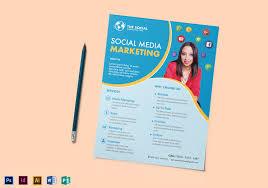 Social Media Design Templates Social Media Marketing Flyer Design Template In Psd Word Publisher
