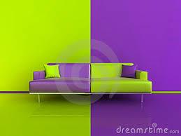 Purple Green Purple Green Contrast Interior