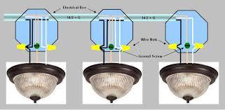 install light fixture wiring diagram