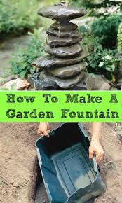 how to make a garden fountain. Fine How How To Make A Garden Fountain Out Anything  DIY Saturday  A Cultivated  Nest And To Make Garden Fountain E