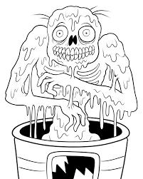 Dessins Coloriage Zombie Imprimer Sur Page Dessin Engins Chantier