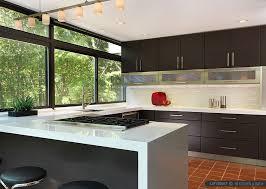 Modern Kitchen Cabinets Marble Glass Backsplash Tile DMA Homes