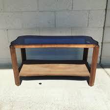art deco blue glass coffee table 49