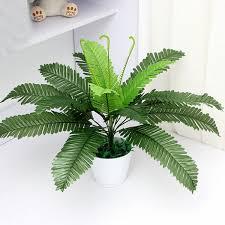 artificial silk foliage plant simulaton plastic large boston fern for office home indoor garden decoration 40cm artificial plants for office decor