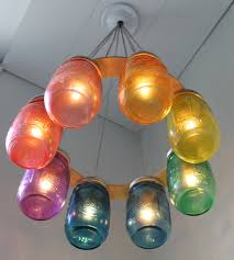 jar lighting fixtures. RAINBOW Connection MASON Jar Chandelier - Upcycled Hanging Mason Lighting Fixture Direct Hardwire BootsNGus Lamps Rustic Home Decor Fixtures J