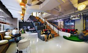 coolest office design. In Jakarta, Indonesia, The Offices Of Ad Agency Ogilvy \u0026 Mather Turn Ordinary Stairs Into A Work Station And Playground Slide. Coolest Office Design