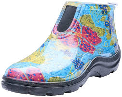 com sloggers women s waterproof rain and garden ankle boots with comfort insole midsummer blue size 8 style 2841bl08 garden outdoor