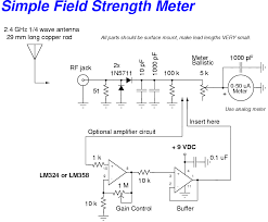 homebrew rf test equipment and software simple field strength meter schematic