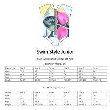 junior size junior girls splashy rashie suit top pattern size 2 to 7 yr swim