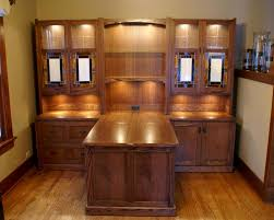 double office desk. custom made craftsman style desk system double office