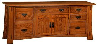 Amish Modesto Mission Credenza with File Drawers