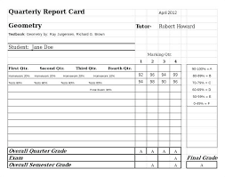 School Report Card Format High School Report Card Template Free 6 Word Excel Documents