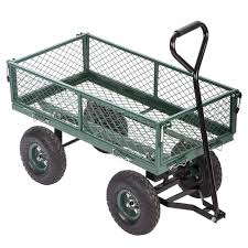 details about new garden carts wagons heavy duty utility outdoor steel beach lawn yard buggy