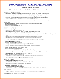 Examples Of A Resume Summary 60 qualifications for a resume the stuffedolive restaurant 54