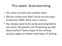 expository essay lesson ppt 4 this week brainstorming