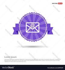 Purple Ribbon Banner Send Mail Icon Purple Ribbon Banner Vector Image On Vectorstock